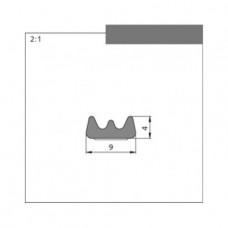 Профиль Е серый. Размер 9,0мм х 4,0мм Катушка 150 м.п. (75м х 2)